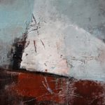 """Kultsjon - 9, oil and cold wax on paper on wood panel, 12""""X12"""" SOLD"""