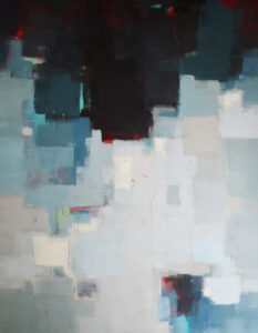 "4 seasons remix - winter # 1, oil on wood panel, 40"" X 36"""